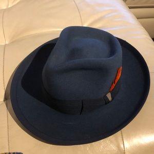 Vintage Fedora Blue